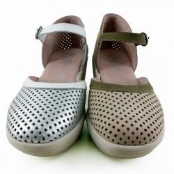 Zapatos cuña mujer.